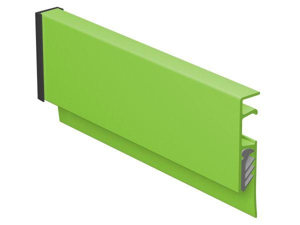 Klemmschiene Info-Rail grün (Strukturlack)